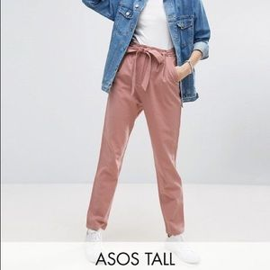 ASOS // tall pink linen pants